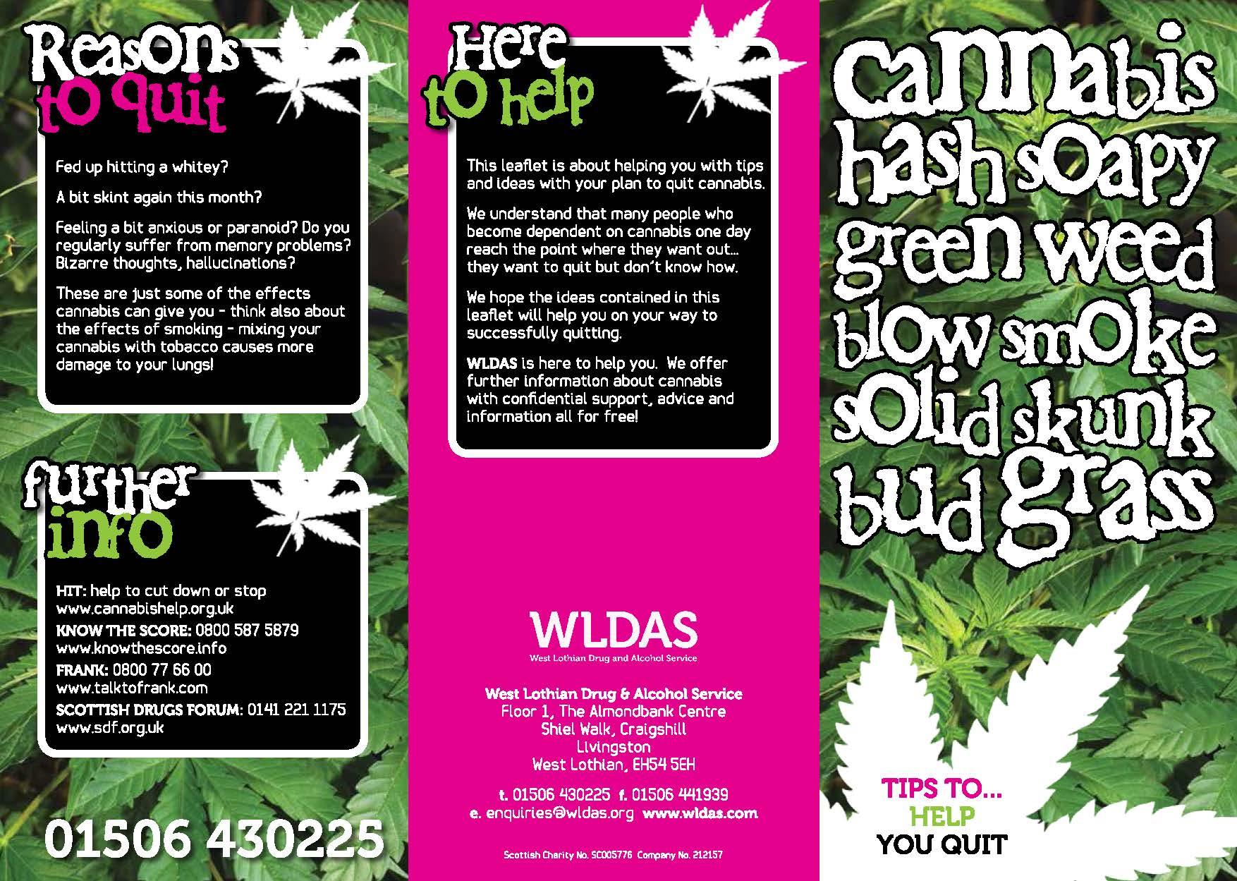 WLDAS | Cannabis Leaflet - May, 2014_Page_1 | WLDAS